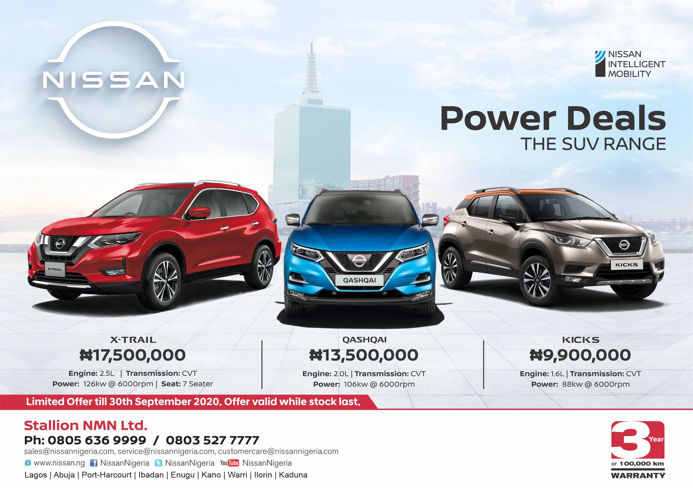 Nissan SUV range